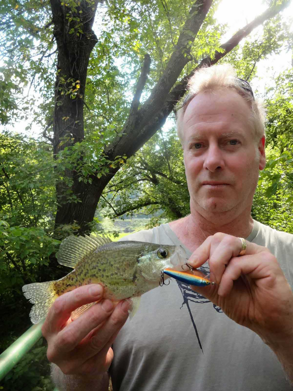There is great fishing at Cooper River Park near Haddonfield, NJ.