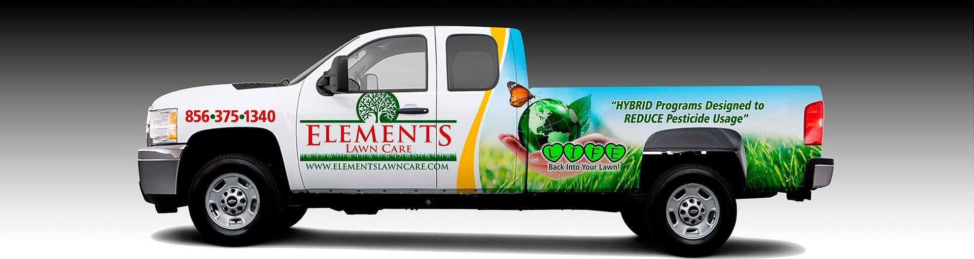 Have you seen our Elements Lawn Care trucks in your neighborhood?