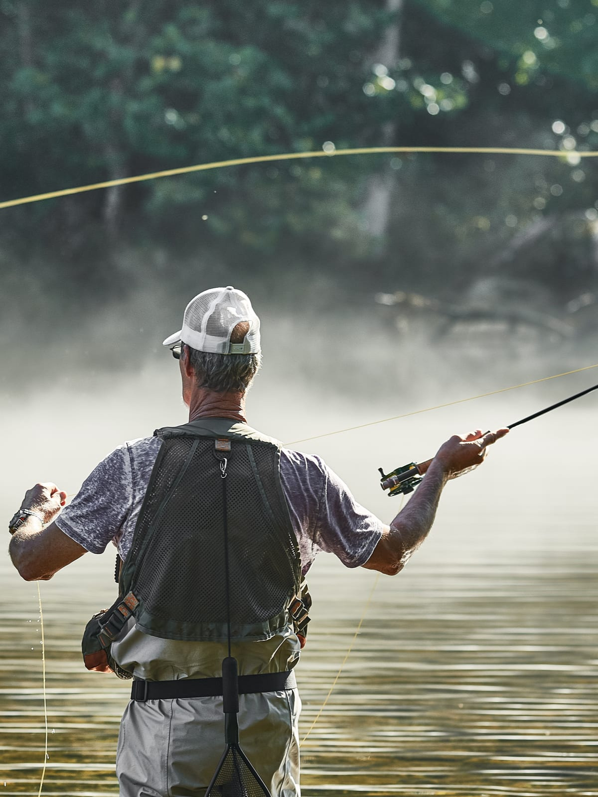 Fishing is one of many activities at Cooper River Park near Cherry Hill, NJ.
