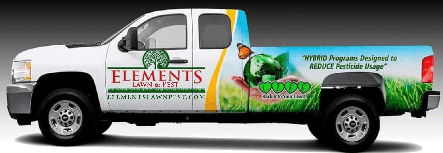 Elements Lawn Care truck