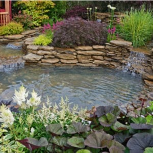 Add a pond or other water feature to your property to add curb appeal to your Loganville, GA landscaping.