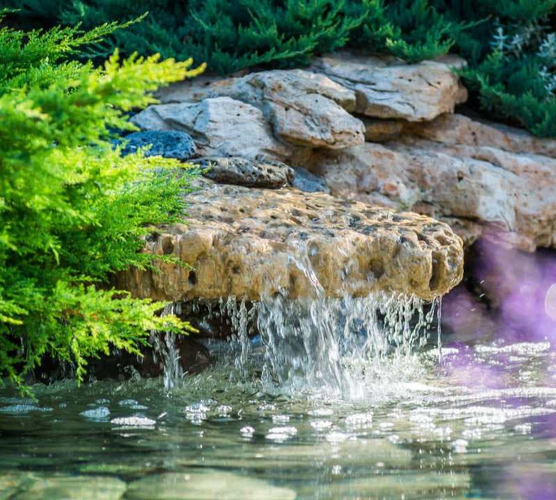 Add a water feature to your Lawrenceville, GA property to add curb appeal and beauty to your lawn.